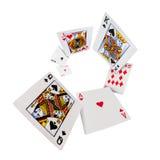 Jouer le casino de tisonnier de cartes Photos libres de droits