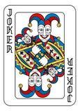 Jouer le noir bleu rouge de jaune de joker de carte Illustration Stock