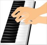 Jouer le piano Photos stock