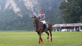 Jouer le polo Images stock