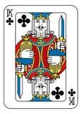 Jouer le roi de carte du noir bleu rouge de jaune de pelles Illustration Stock