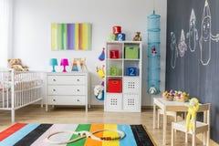 Jouer le secteur d'une salle de bébé Photographie stock libre de droits