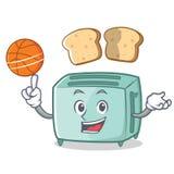 Jouer le style de bande dessinée de caractère de grille-pain de basket-ball illustration libre de droits