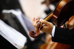 Jouer le violon Image stock