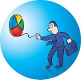 Jouer le yo-yo Illustration Libre de Droits