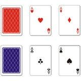 Jouer les cartes en liasse 02 Photos stock