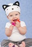 Jouer mignon de bébé Image stock