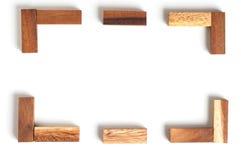 Jouet abstrait de bloc en bois de cadre Images libres de droits