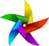 Jouet coloré de moulin à vent Photo libre de droits