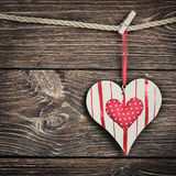 Jouet décoratif de coeur Image libre de droits