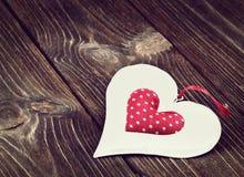 Jouet décoratif de coeur Photographie stock libre de droits