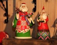Jouet décoratif de décoration de Noël et de nouvelle année dans le rétro style Photo libre de droits