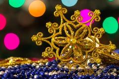 Jouet d'étoile d'arbre de Noël Images stock