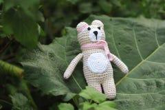 Jouet d'Amigurumi TeddyBear Images stock
