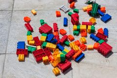 Jouet d'enfant connu par des legos image stock