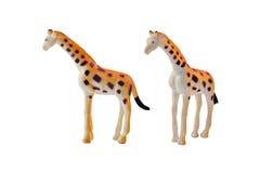 Jouet d'isolement de girafe Images stock