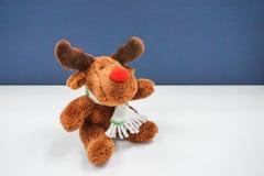 Jouet d'isolement de renne Photographie stock libre de droits