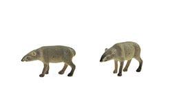 Jouet d'isolement de tapir Photographie stock libre de droits