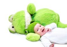 Jouet de bébé et de grenouille Image libre de droits