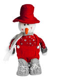 Jouet de bonhomme de neige Images stock