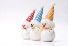jouet de bonhomme de neige de Noël Photographie stock libre de droits
