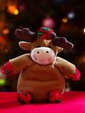 Jouet de cerfs communs de Noël Image libre de droits