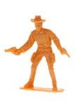 Jouet de cowboy de cru Photographie stock libre de droits