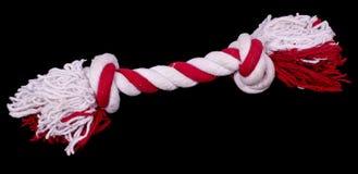 Jouet de crabot, corde avec des noeuds Images libres de droits