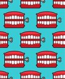 Jouet de dents de broutement d'isolement Symbole d'April Fools Day Vect de jouet de mâchoire illustration libre de droits