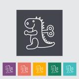 Jouet de Dinosaurus Photographie stock libre de droits