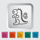 Jouet de Dinosaurus Photos stock