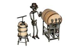 Jouet de fer de vendeur de vin Images stock