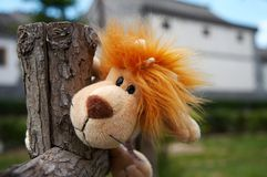 Jouet de lion Photo stock