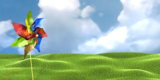 Jouet de moulin à vent Photos stock