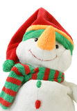 Jouet de Noël - bonhomme de neige blanc Photographie stock libre de droits