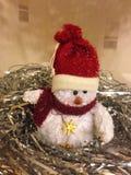 Jouet de Noël de bonhomme de neige Photographie stock