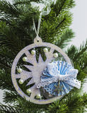 Jouet de Noël - flocon de neige Image libre de droits