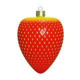 Jouet de Noël sous forme de fraises rouges, décoration, Re 3d illustration stock