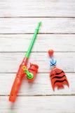Jouet de pêche Images libres de droits