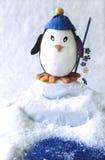 jouet de pingouin de pêche images stock