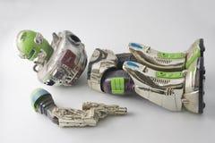 Jouet de robot enroulé Image stock
