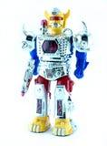 Jouet de robot sur le fond blanc Images stock
