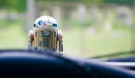 Jouet de Star Wars du vintage R2-D2 image libre de droits