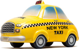 Jouet de taxi de New York Images stock