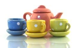 Jouet de Teaset Photo stock