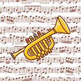 Jouet de trompette jouet illustration libre de droits