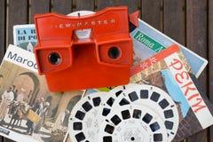 jouet de visionneuse du vintage 3d de Vue-maître Photographie stock