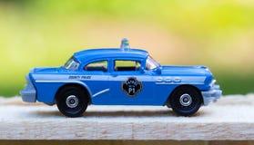 Jouet de voiture de police Images libres de droits