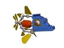 Jouet drôle de robot de poissons Images libres de droits