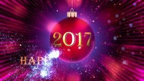 Jouet du ` s de nouvelle année sur un fond lilas banque de vidéos